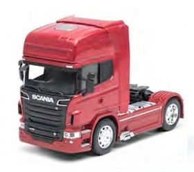 Метален камион влекач Welly Scania V8 R730 4x2