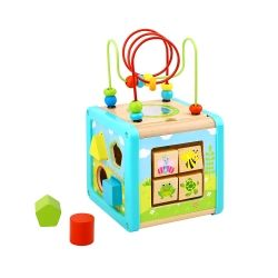 Дървен сортер Multi Cube Tooky Toy