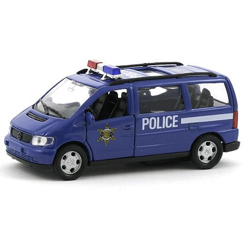 Метална кола Welly Mercedes-Benz V-Class POLICE  1:34-39