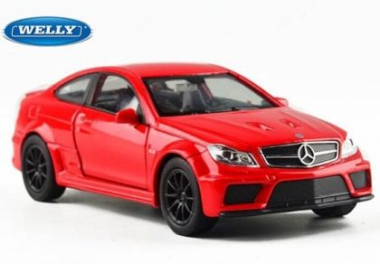 Метална количка Mercedes Benz C63 AMG Coupe Welly - 1:34
